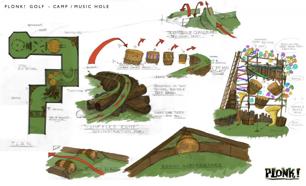 plonk crazy golf camp music hole instructions