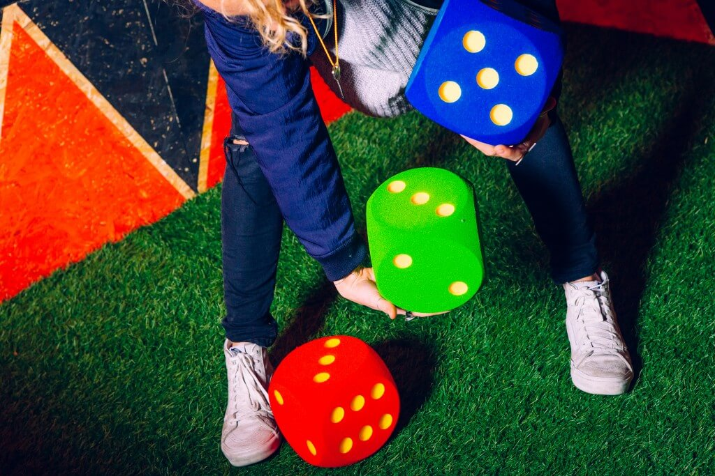 giant colourful dice