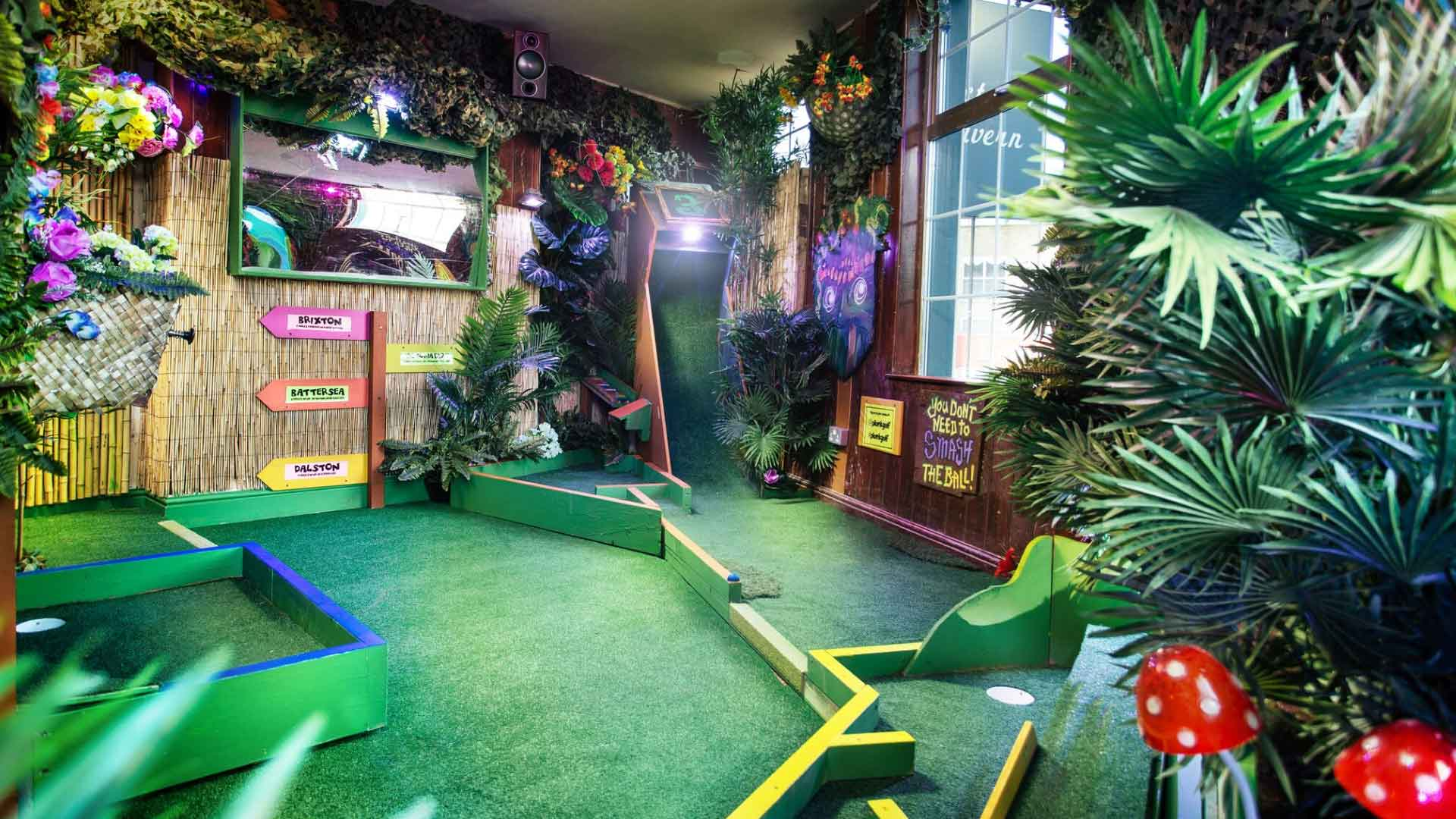 Islington crazy golf course